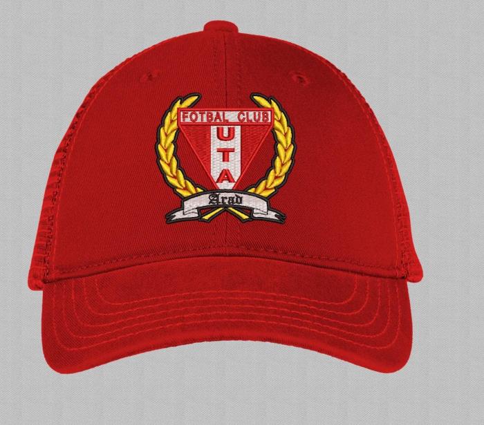 Șapcă roșie brodată copii 1