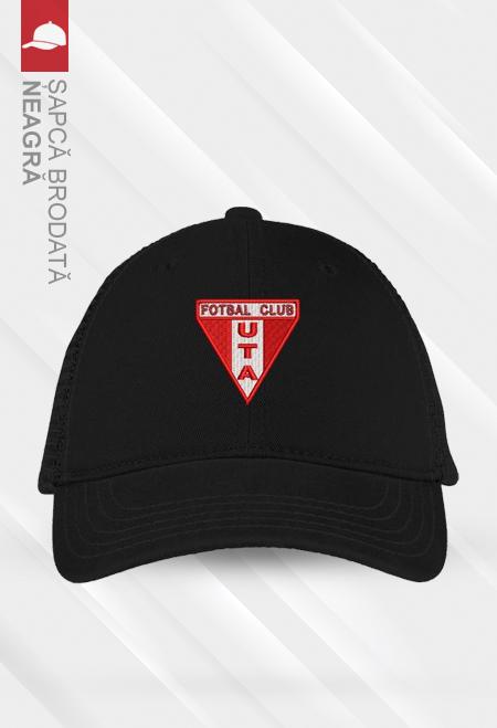 Șapcă neagră brodată 0