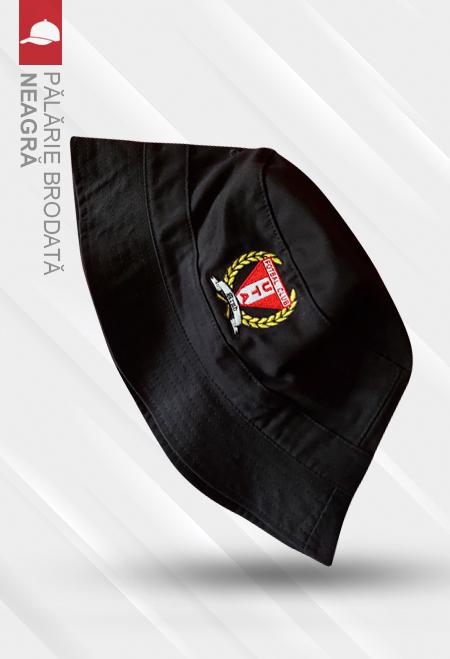 Pălărie neagră brodată 0