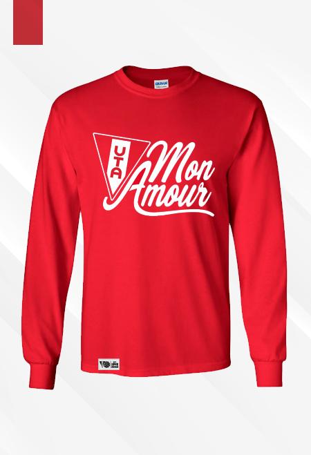 "Bluză roșie ""Mon amour"" 0"
