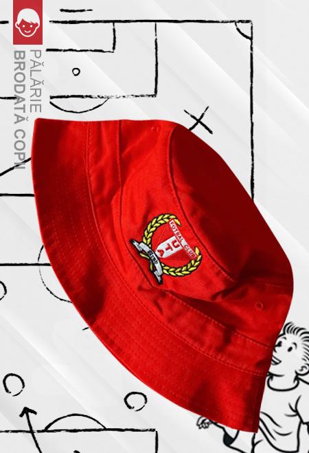 Pălărie roșie brodată copii 0
