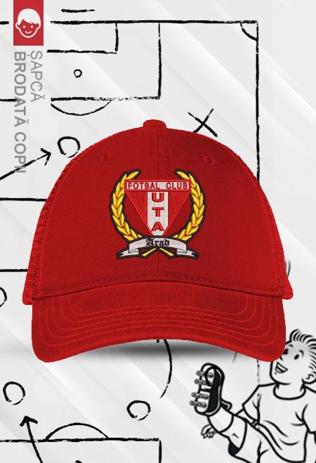 Șapcă roșie brodată copii 0