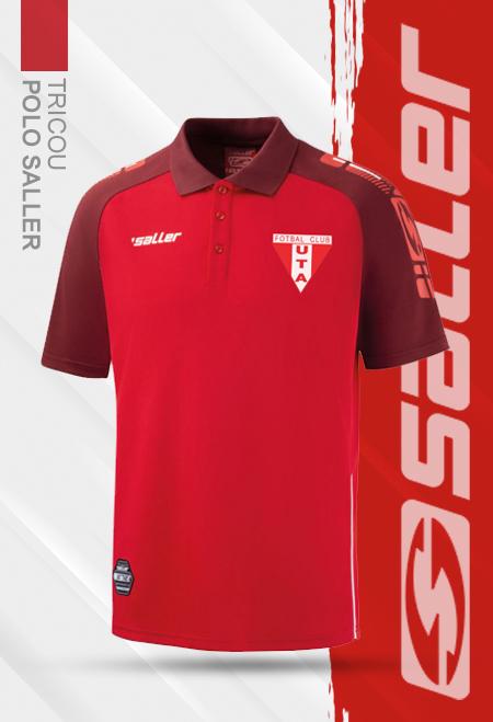 Tricou polo rosu  Saller - Sezon 2020-2021 0