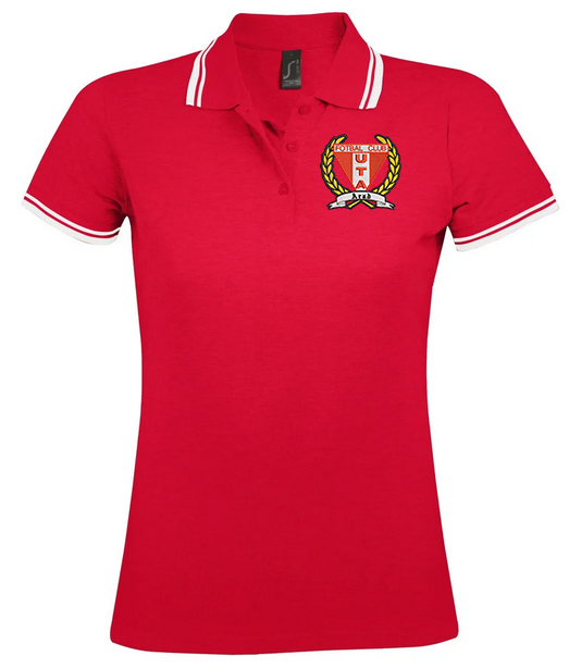 Female red polo embrodiered t-shirt UTA Arad [0]