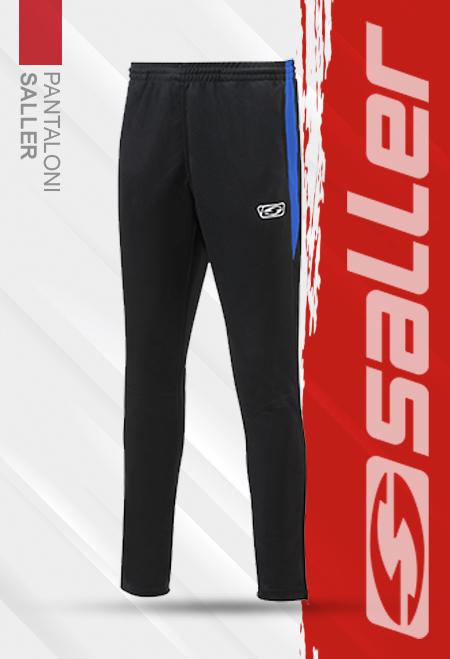 Pantaloni staff negru-albastru Saller - Sezon 2020-2021 0