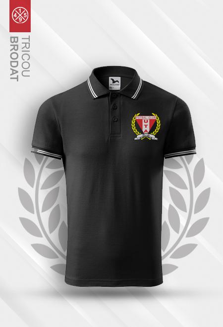 Black polo embrodiered t-shirt UTA Arad 0