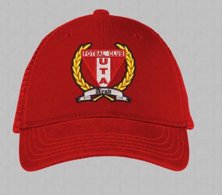 Șapcă roșie brodată copii1