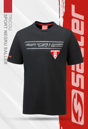 Tricou sport negru Saller - Sezon 2020-20210
