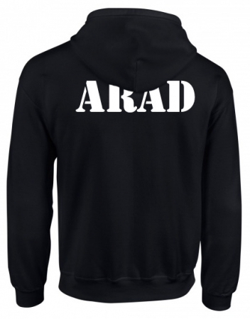 Hanorac negru cu fermoar Arad [0]