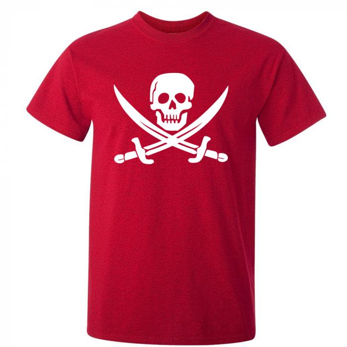 Tricou Pirate Flag (Rosu) 0
