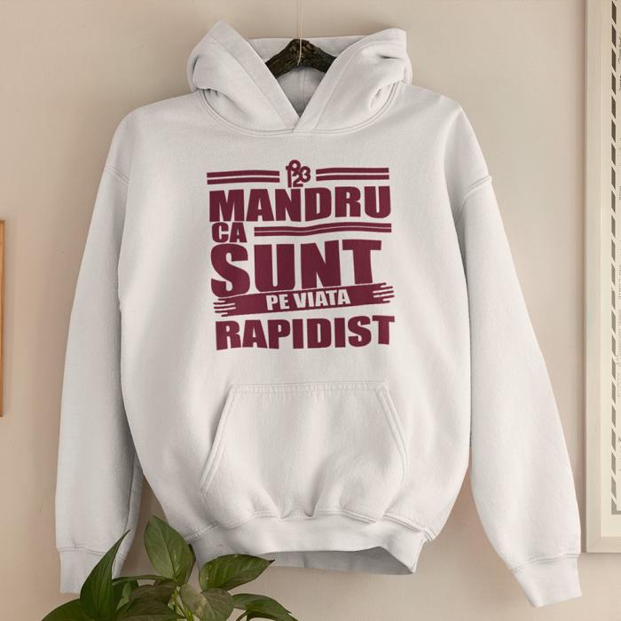 Hanorac  Alb-Visiniu - Mandru ca sunt Rapidist 0