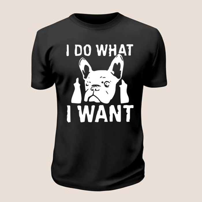 Tricou What I Want (Negru) 0