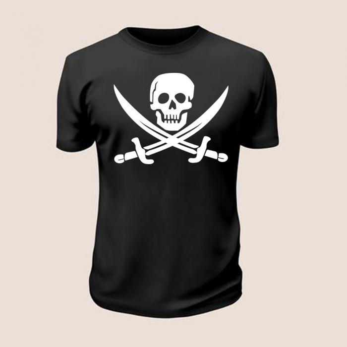 Tricou Pirate Flag (Negru) 0