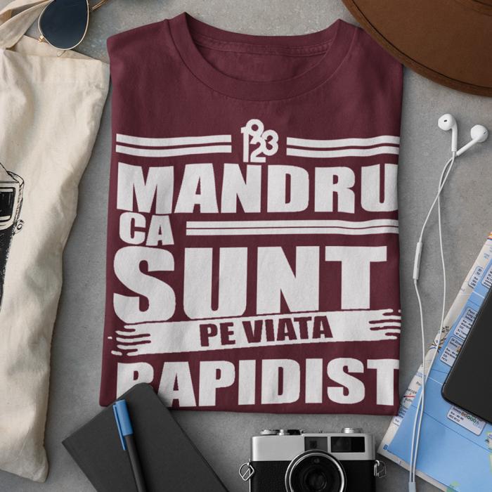 Tricou Visiniu - Mandru ca sunt Rapidist 0