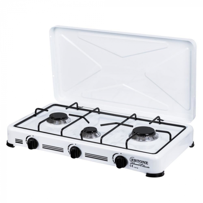 Aragaz, Minigaz 3 arzatoare (G 17), emailat, alimentare cu butelie gaz GPL [1]