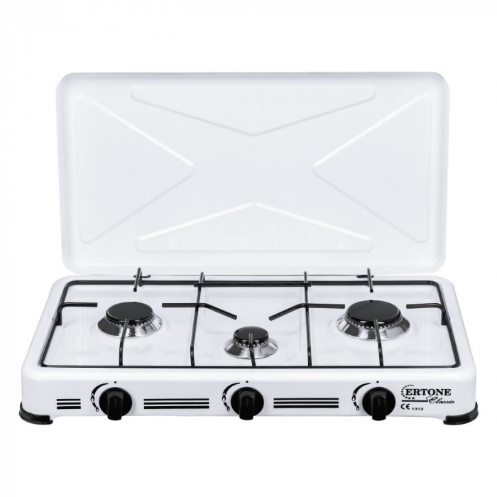 Aragaz, Minigaz 3 arzatoare (G 17), emailat, alimentare cu butelie gaz GPL [0]