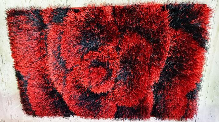 Covor 3D - Matase (rosu cu negru) 0