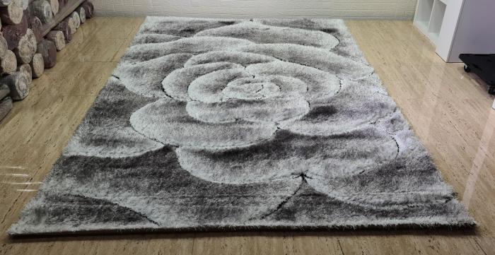 Covor 3D - Matase (gri cu negru) 3
