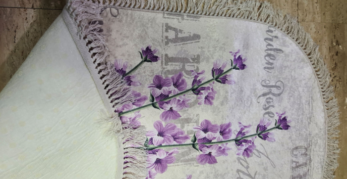 Covor cu imprimeu Lavanda, (CP 4) 80x150 cm, print digital, antiderapant, franjuri detasabili [1]