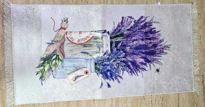 Covor Lavanda 80x150 cm, (CP 7) print digital, antiderapant cu franjuri [0]