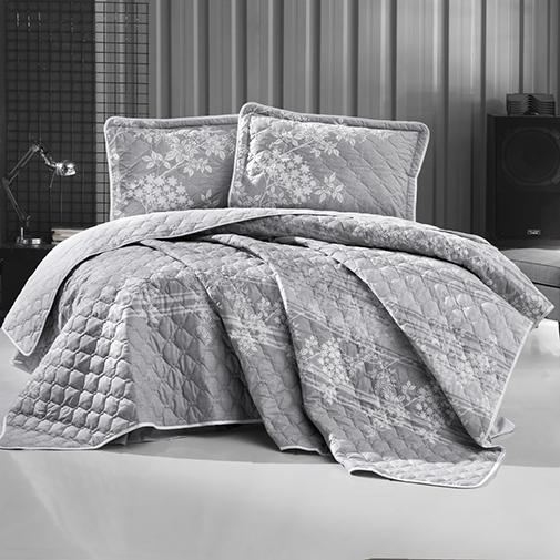 Cuvertură de pat matlasată, bumbac, 2 persoane (BOVA V1) 0
