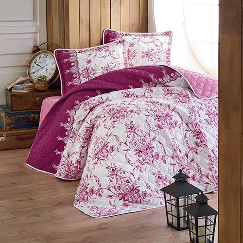 Cuvertură de pat matlasată, bumbac, 2 persoane (DIVA) 0