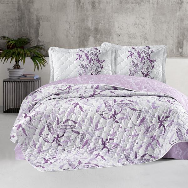 Cuvertură de pat matlasată, bumbac, 2 persoane (MAYRA V2) 0