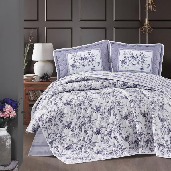 Cuvertură de pat matlasată, bumbac, 2 persoane (Montera-v2) 0
