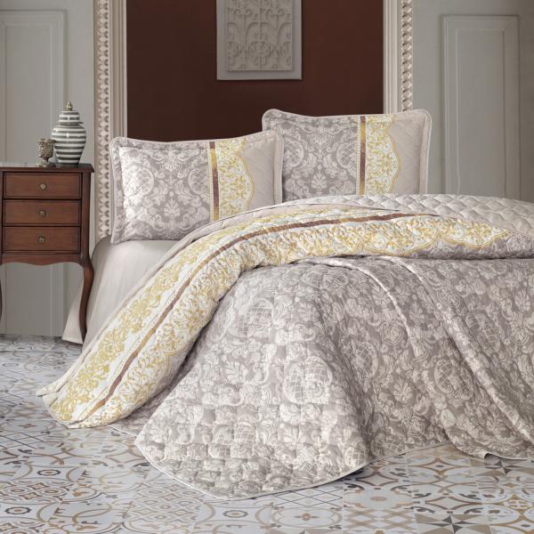 Cuvertură de pat matlasată, bumbac, 2 persoane (ROCO V1) 0