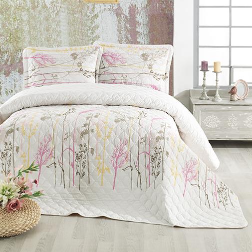 Cuvertură de pat matlasată, bumbac, 2 persoane (SANTORINI) 0