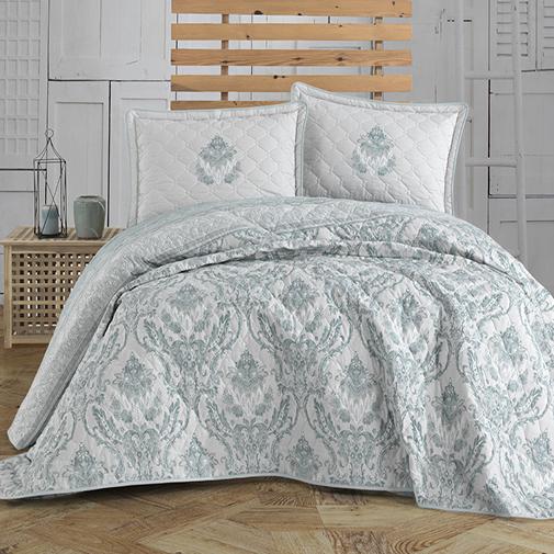 Cuvertură de pat matlasată, bumbac, 2 persoane (Turka-v1) 0