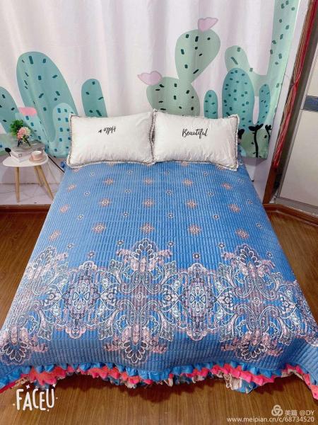 Cuvertura de pat catifea plusata, 2 persoane (204) [0]