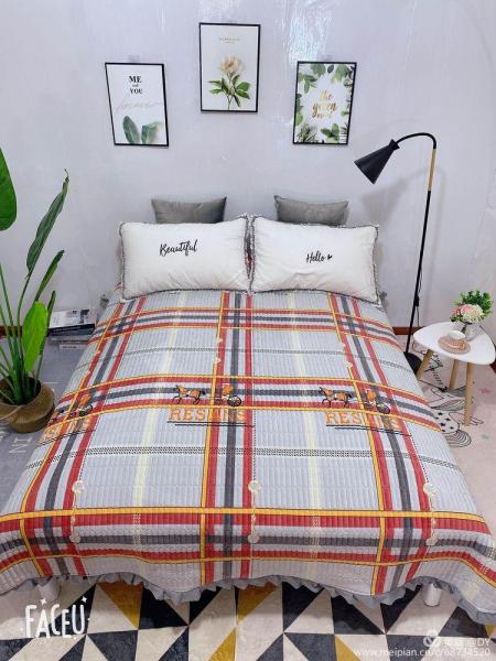 Cuvertura de pat catifea plusata, 2 persoane (213) 0