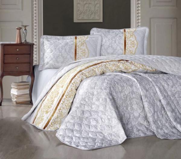 Cuvertură de pat matlasată, bumbac, 2 persoane ( Roco V2) [0]