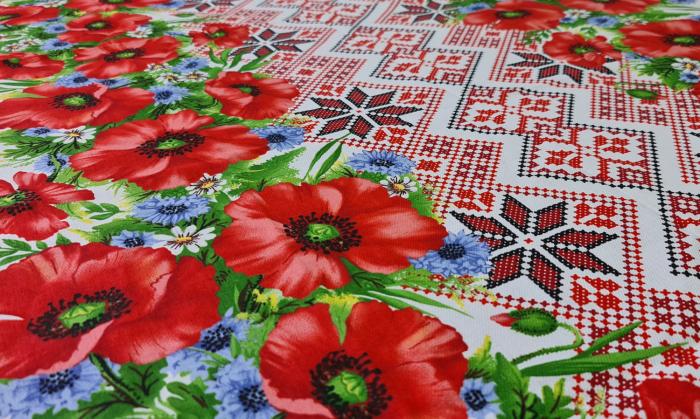 Față de masă din Bumbac cu flori 2
