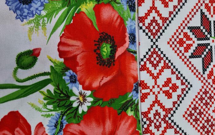 Față de masă din Bumbac cu flori 1