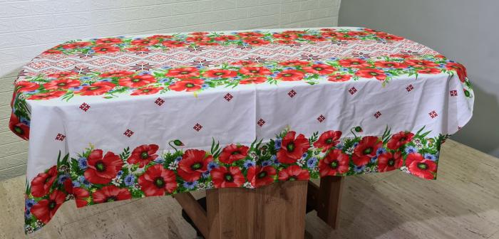 Față de masă din Bumbac cu flori 0