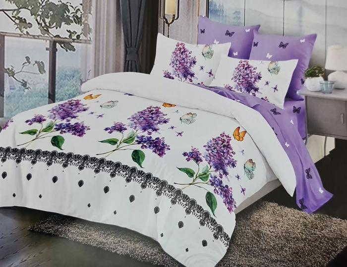 Lenjerie de pat FINET 6 piese (Finet 927) - Flori de liliac [0]