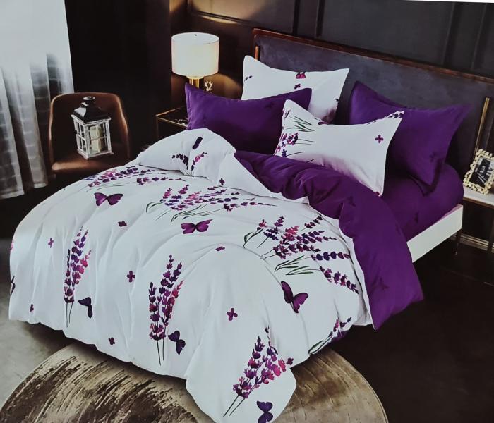 Lenjerie de pat dublu, FINET 6 piese (Finet 935) Galben cu flori, 245 x 250 cm, Luxury Pucioasa [0]
