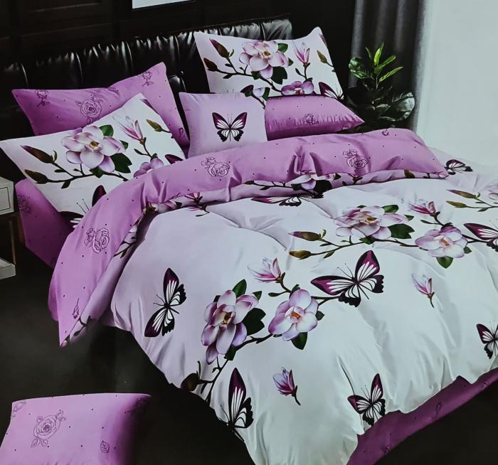 Lenjerie de pat dublu, FINET 6 piese (Finet 938) Galben cu flori, 245 x 250 cm, Luxury Pucioasa [0]
