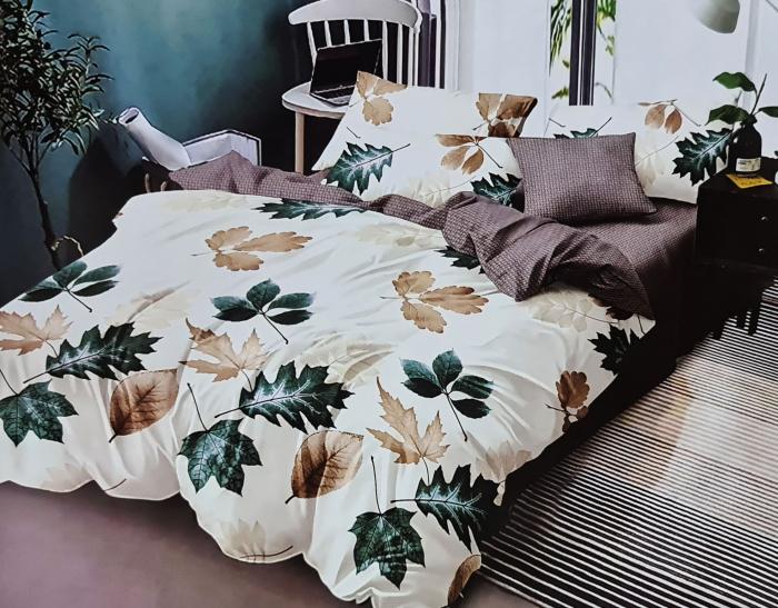 Lenjerie de pat dublu, FINET 6 piese (Finet 941) Galben cu flori, 245 x 250 cm, Luxury Pucioasa [0]