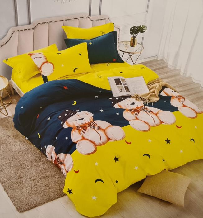 Lenjerie de pat dublu, FINET pentru copii (FC 3) Ursuleti, 245 x 250 cm, Jojo Home [0]