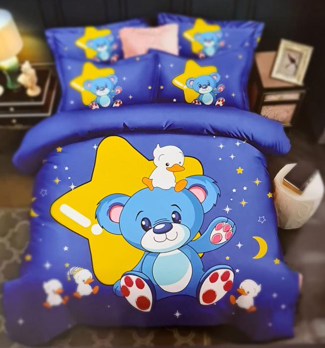 Lenjerie de pat dublu, FINET pentru copii (FC 4) Ursulet, 245 x 250 cm, Jojo Home [0]