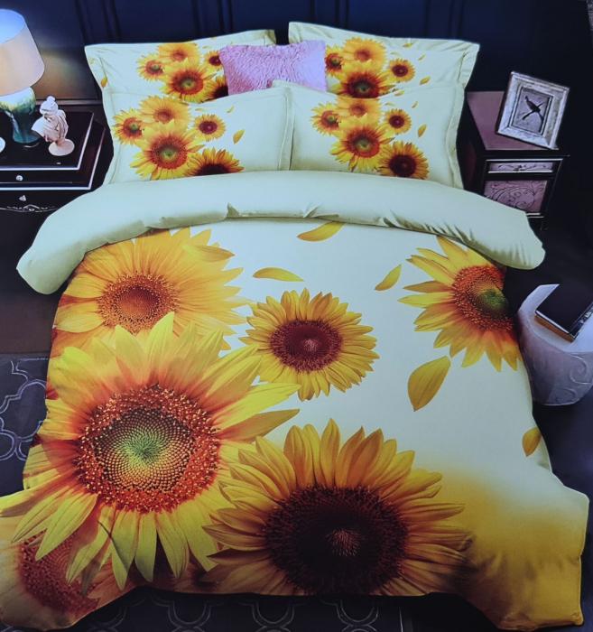 Lenjerie de pat FINET 6 piese (Finet 916) Floarea soarelui [0]