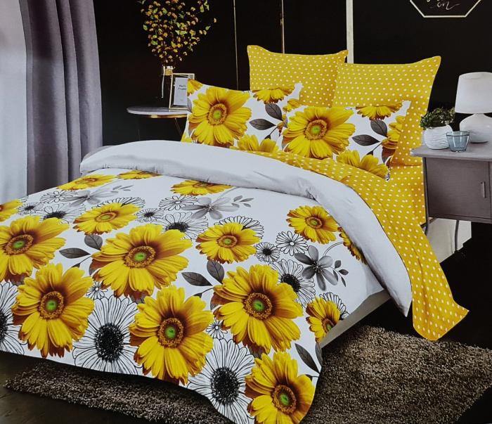 Lenjerie de pat FINET 6 piese (Finet 905) Flori de floarea soarelui [0]