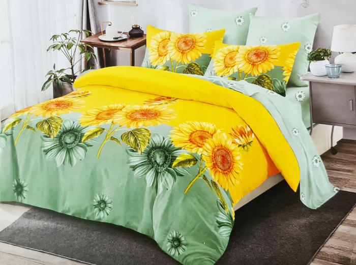 Lenjerie de pat FINET 6 piese (Finet 912) - Floarea soarelui 0
