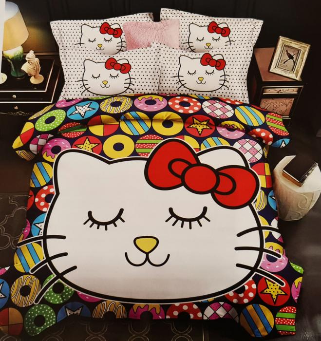 Lenjerie de pat dublu, FINET pentru copii (FC 1) Hello Kitty, 245 x 250 cm, Jojo Home [0]