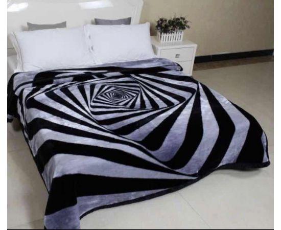 Patura Dubla Groasa, (PDG 1) Zebra negru, 200 x 230 cm, pentru paturi de 2 persoane, Good Life [0]