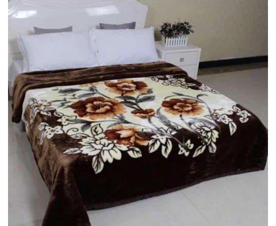 Patura Dubla Groasa, (PDG 2) Maro cu Flori, 200 x 230 cm, pentru paturi de 2 persoane, Good Life [0]