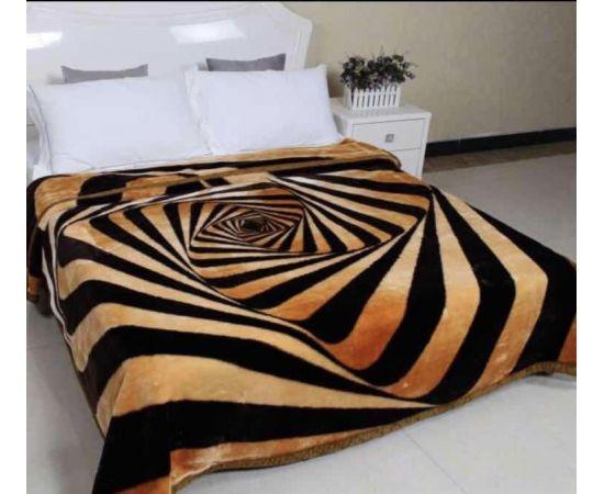 Patura Dubla Groasa, (PDG 5) Zebra maro, 200 x 230 cm, pentru paturi de 2 persoane, Good Life [0]